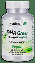 DHA Green omega-3 Nutrixeal, origine végétale, vegan.