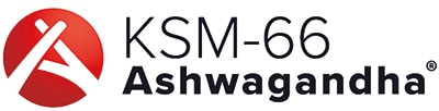 Logo ashwagandha KSM-66 sélectionné par Nutrixeal.