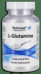Glutamine pure Nutrixeal en poudre.