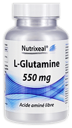 Glutamine pure Nutrixeal en gélules.