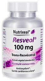 Resveol Nutrixeal, resvératrol issu d'un extrait végétal.