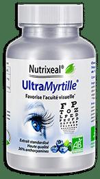 UltraMyrtille Nutrixeal, myrtille BIO concentrée en anthocyanes, pour la vision et les yeux.
