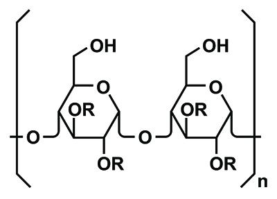 AHCC : structure de l'apha-glucane.
