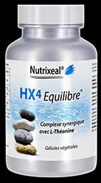 Hx4 Equilibre en gelules de Nutrixeal contient de la L-Théanine, du GABA et de la vitamine B6.