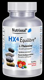 Hx4 Equilibre en pastilles de Nutrixeal contient de la L-Théanine, du GABA et de la vitamine B.