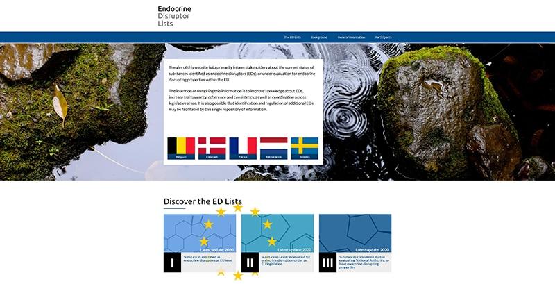 nouveau site internet européen sur les perturbateurs endocriniens.