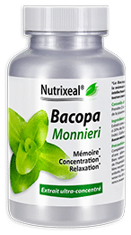Bacopa monnieri (Brahmi) Nutrixeal, extrait standardisé à 20% de bacosides.