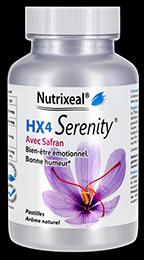 HX4 serenity pastilles fraises de Nutrixeal avec l-theanine, gaba et safran.