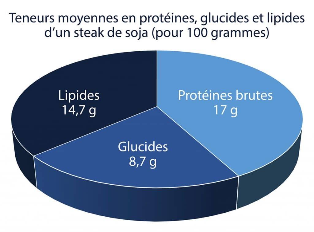 Steak de soja : apports nutritionnels sur Nutrixeal Info