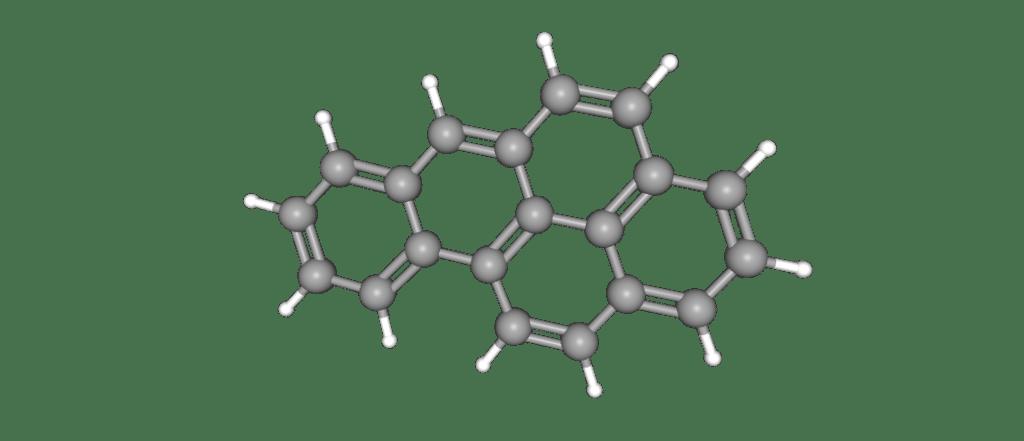 Structure d'un HAP, le Benzo[a]pyrene, à surveiller dans les compléments alimentaires.