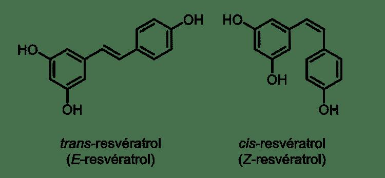 Resveratrol cis et trans : structures moléculaires