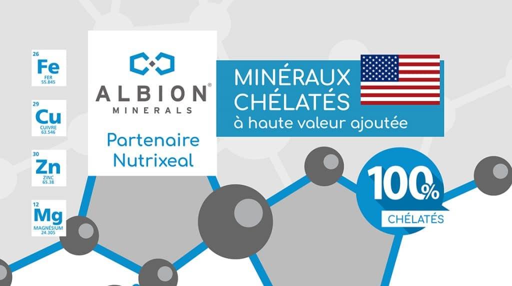Albion minéraux chélatés partenaire Nutrixeal.