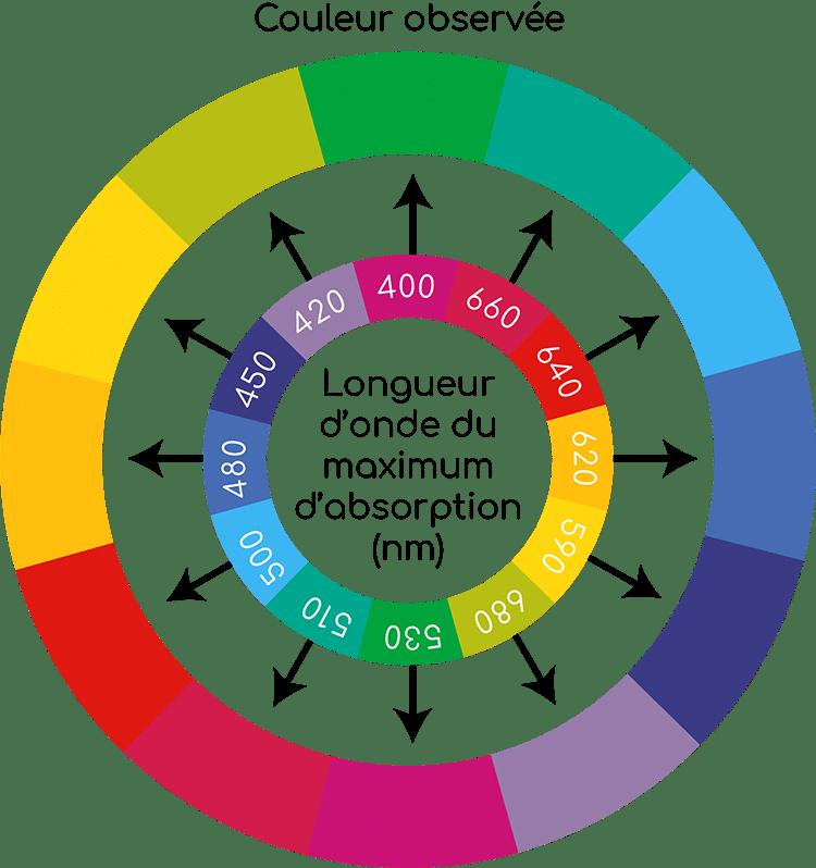 cercle chromatique et longueur onde