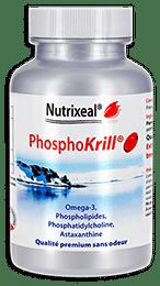 Phosphokrill omega-3 Nutrixeal, avec astaxanthine, softgel.