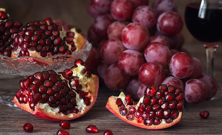 Ellagitanins : grenades, raisins, vins
