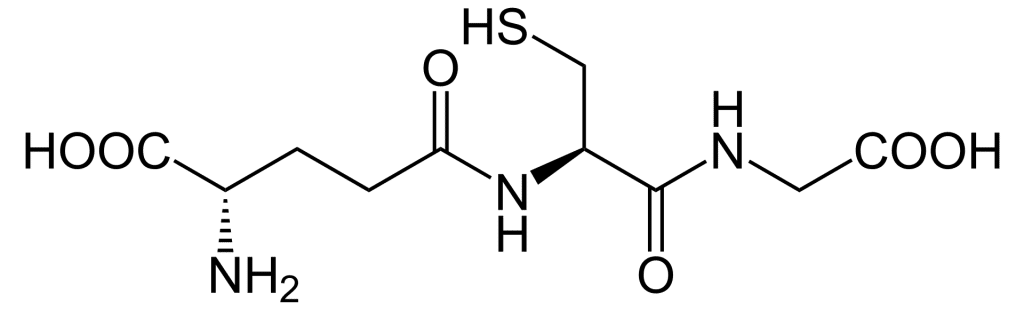 Glutathion réduit structure chimique